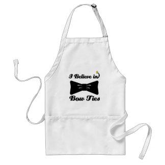 i believe in bow ties standard apron