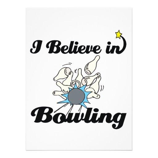 i believe in bowling custom invitations