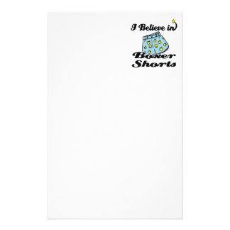 i believe in boxer shorts personalised stationery