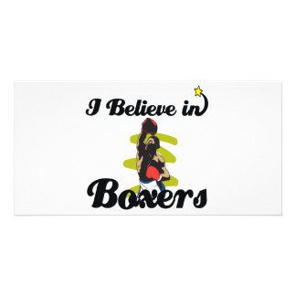 i believe in boxers photo card template
