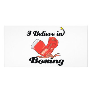 i believe in boxing photo cards