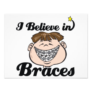 i believe in braces personalized announcements