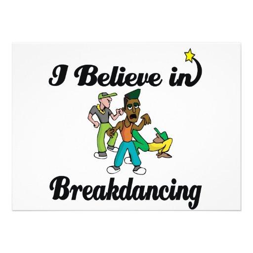 i believe in breakdancing invites