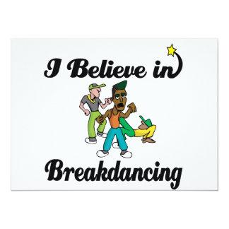 "i believe in breakdancing 5.5"" x 7.5"" invitation card"