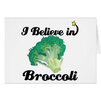 i believe in broccoli card
