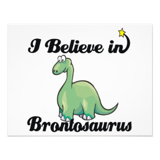 i believe in brontosaurus personalized announcement