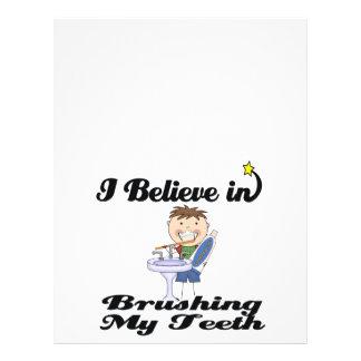 i believe in brushing my teeth boy 21.5 cm x 28 cm flyer