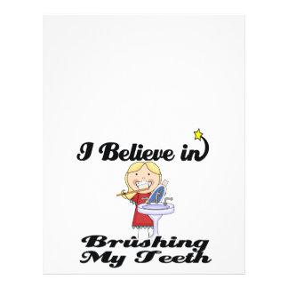 i believe in brushing my teeth girl 21.5 cm x 28 cm flyer