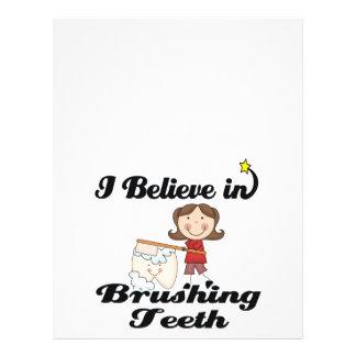 i believe in brushing teeth flyer design