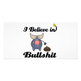 i believe in bullshit photo card template
