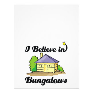 i believe in bungalows personalized flyer