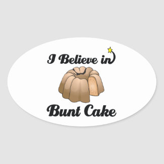 i believe in bunt cake oval stickers