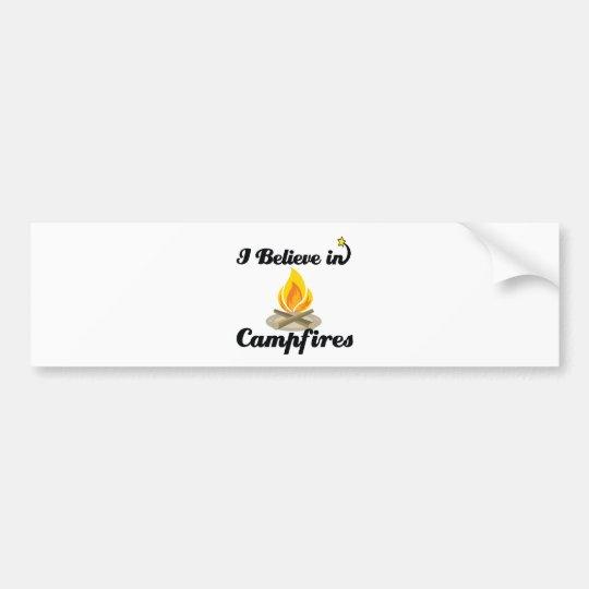 i believe in campfires bumper sticker