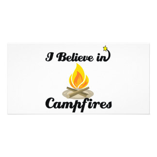 i believe in campfires picture card