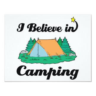 i believe in camping 11 cm x 14 cm invitation card