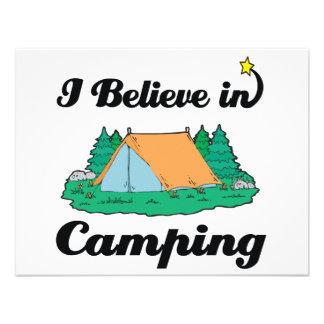 i believe in camping custom invitations