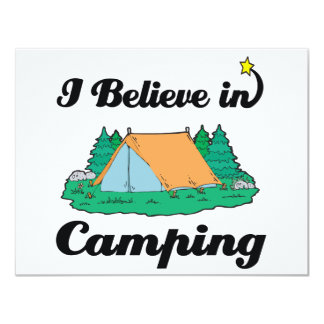 i believe in camping custom invitations