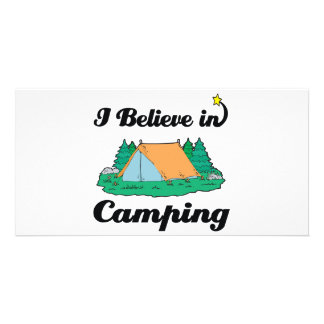 i believe in camping photo greeting card