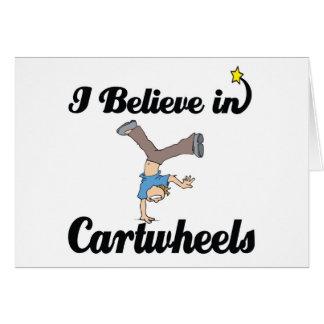 i believe in cartwheels card
