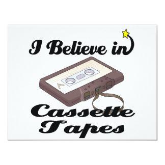 i believe in cassette tapes 11 cm x 14 cm invitation card