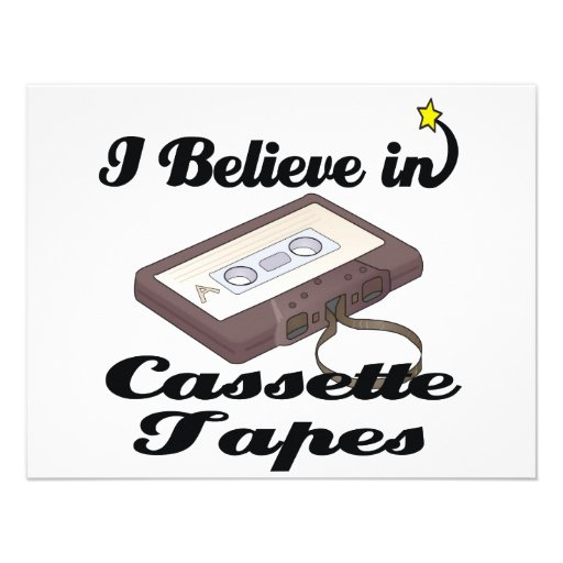 i believe in cassette tapes personalized invite
