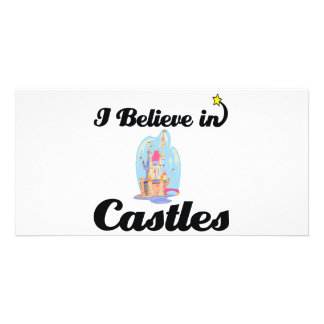 i believe in castles personalised photo card