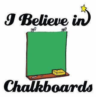 i believe in chalkboards standing photo sculpture