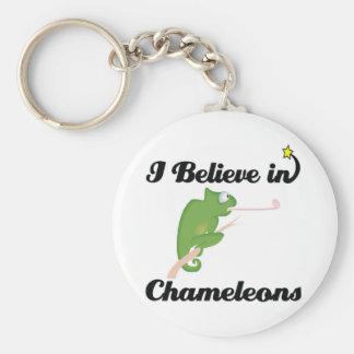 i believe in chameleons key ring