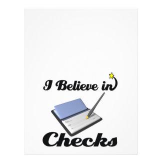 i believe in checks flyer