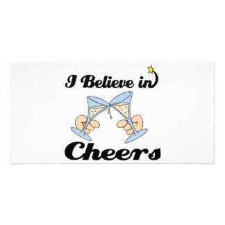 i believe in cheers photo greeting card