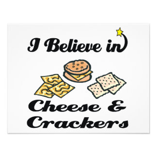 i believe in cheese and crackers announcement