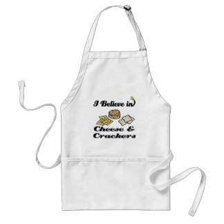 i believe in cheese and crackers standard apron