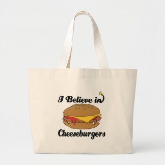 i believe in cheeseburgers canvas bag