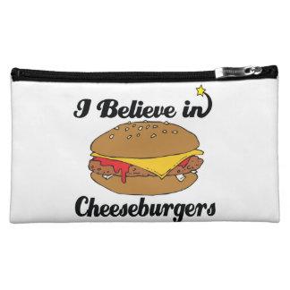i believe in cheeseburgers cosmetic bag