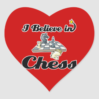 i believe in chess heart sticker
