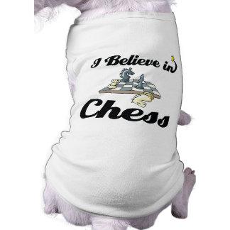 i believe in chess sleeveless dog shirt