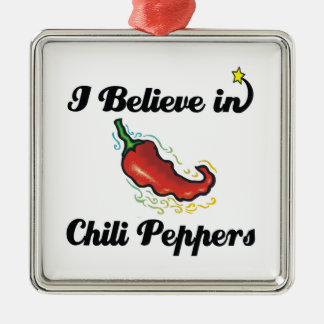 i believe in chili peppers christmas ornament