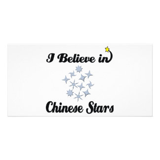 i believe in chinese stars customised photo card