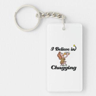 i believe in chugging Single-Sided rectangular acrylic keychain
