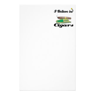 i believe in cigars stationery paper