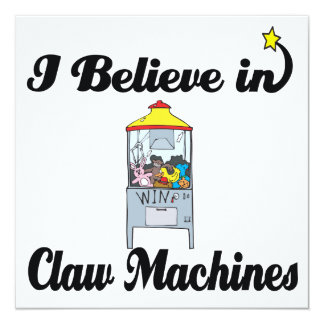 i believe in claw machines personalized invites
