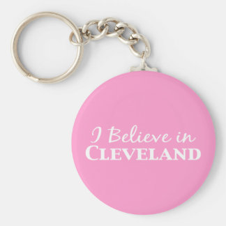 I Believe In Cleveland Gifts Basic Round Button Key Ring