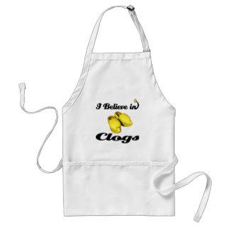i believe in clogs apron