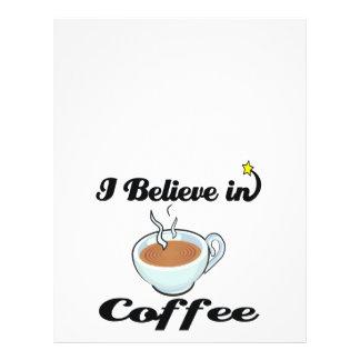 i believe in coffee 21.5 cm x 28 cm flyer