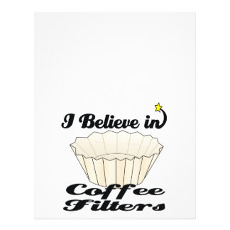 i believe in coffee filters 21.5 cm x 28 cm flyer