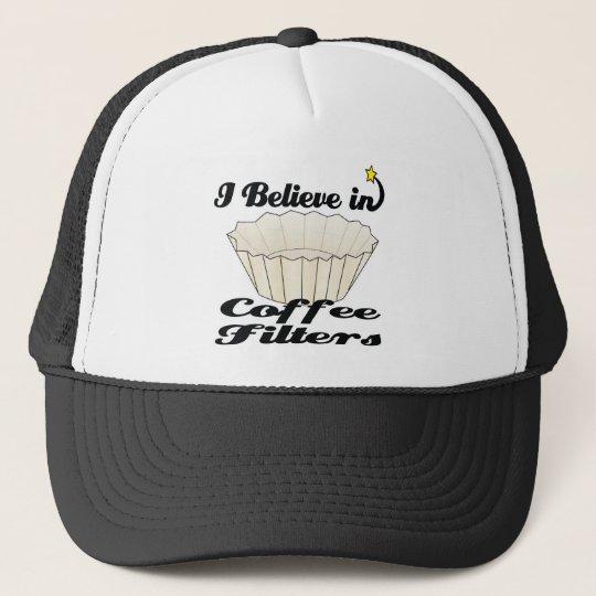 i believe in coffee filters cap