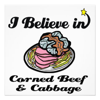 believe in corned beef and cabbage invitations