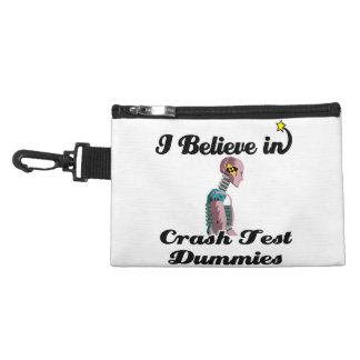 i believe in crash test dummies accessories bag