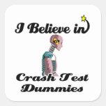 i believe in crash test dummies sticker