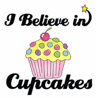 i believe in cupcakes standing photo sculpture